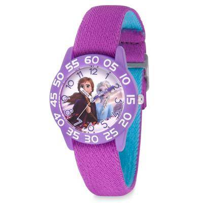 Disney Anna and Elsa Time Teacher Watch for Kids Frozen 2 Reversible Band - Official shopDisney