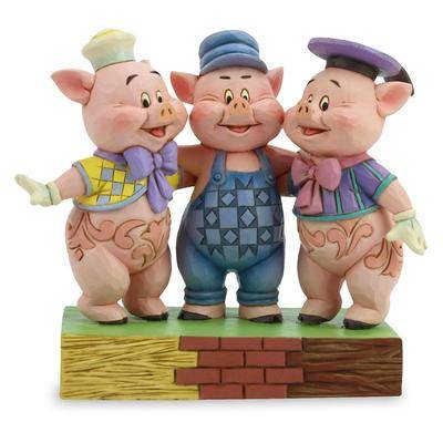 Jim Shore Three Little Pigs ''Squealing Siblings'' Figure by Jim Shore - Official shopDisney
