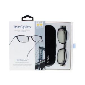 ThinOPTICS Front Page Blue Light Blocking Computer Glasses + Milano Black Case