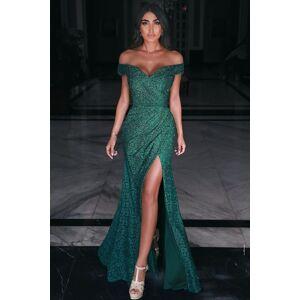 Babyonlinewholesale Charming Off Shoulder Prom Gown Side Split Evening Maxi Dress