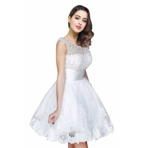 Babyonlinewholesale CELIA   A-line Jewel Tulle Party Dress With  Beading
