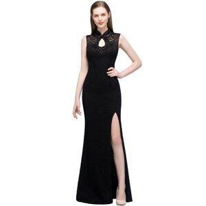 Babyonlinewholesale VERA   Mermaid Sleeveless Keyhole Neckline Floor Length Lace Prom Dresses with Crystals