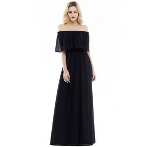 Babyonlinewholesale Hera   Off the shoulder Black Long Evening Dress - Clearance Sale