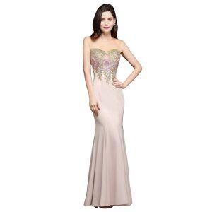 Babyonlinewholesale ALLISON   Mermaid Floor Length Pearl Pink Evening Dresses with Appliques