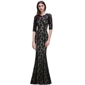 Babyonlinewholesale BRYLEE   Mermaid Jewel Lace Black Sexy Evening Dresses