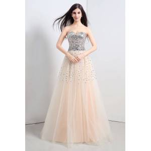 Babyonlinewholesale CECELIA   A-line Strapless Tulle Party Dress With  Sequined