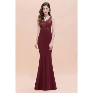 Babyonlinewholesale V-Neck Mermaid Evening Dress Sequins Chiffon Slim Party Dress