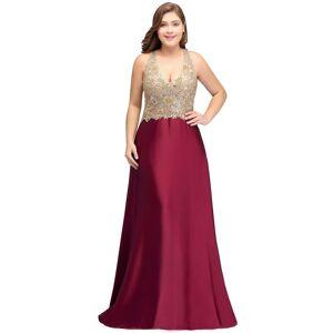 Babyonlinewholesale ISABELA   A-Line V-neck Long Sleeveless Plus size bridesmaid Dresses with Appliques