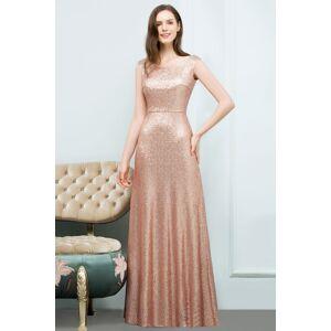 Babyonlinewholesale JOSELYN   A-line Floor Length Scoop Sleeveless Sequined Prom Dresses