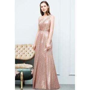 Babyonlinewholesale JOURNEE   A-line One-shoulder Sleeveless Floor Length Sequins Prom Dresses