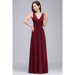 Babyonlinewholesale ALEXA   Sheath V Neck Burgundy Chiffon Long Evening Dresses