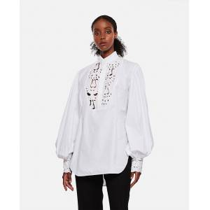 Loverboy Shirt with embroidery - White - female - Size: M