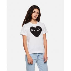 Comme des Garcons Play T-shirt with logo print - White - female - Size: M