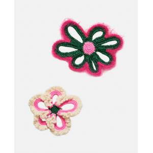 Molly Goddard Floral brooches - Green - female - Size: One Size