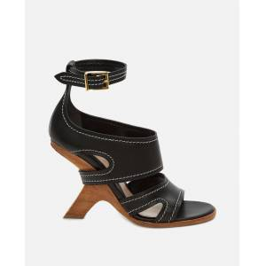 Alexander McQueen Leather sandals - Black - female - Size: 37