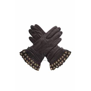 3.1 Phillip Lim Women's 3.1 Phillip Lim Vera Pleated Driving Gloves in Black, Size XS/Small