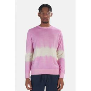 President's Men's President's Wool Cashmere Sweater in Pink/White, Size XL