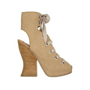 ACNE Women's Acne Chiara Ankle Boot Shoes in Natural, Size 38