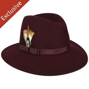 Bollman Hat Company Judy F. Fedora - Exclusive  - Burgundy - Size: L