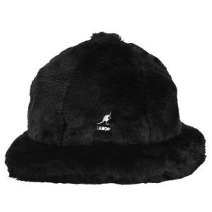 Kangol Faux Fur Casual  - Black - Size: XL