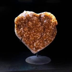 Astro Gallery Citrine Cluster Heart on Stand from Uruguay (50 lbs)