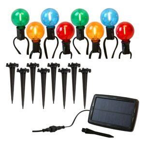 JH Specialties Inc. Solar Powered Pathway Lights w/ 8 Globe Bulbs