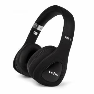 Bluemar Promotions Veho ZB-6 On-Ear Wireless Bluetooth Headphones w/ Microphone/Remote Control and Wired Option in Black