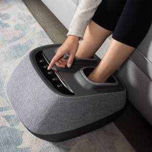 Johnson Health Tech Trading, Inc Arch Refresh-Premium Kneading+Vibration Heated Foot Massager in Grey