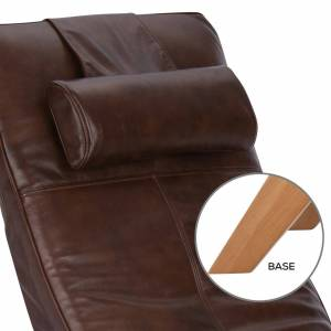 Human Touch Gravis ZG Chair in Mahogany/bone
