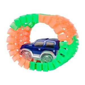 World Tech Toys Mega Galaxy Flex-Track 425 Piece Glow Track w/ 2 Electric LED Light Cars