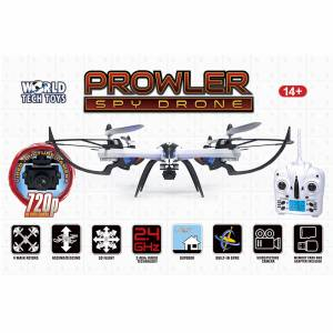 World Tech Toys Prowler Spy Drone Video Camera & Photo 2.4GHz RC Quadcopter in White