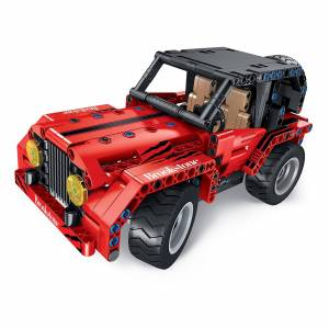 Innovative Designs Brookstone Build-Your-Own Transforming R/C Off-Road Vehicle in Red/black