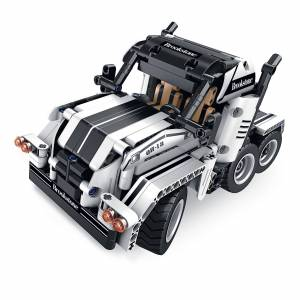 Innovative Designs Brookstone Build-Your-Own Transforming R/C Off-Road Truck in Black/white