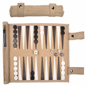 Pitkin Stearns International Sondergut Roll-up Travel Game Backgammon in Cream