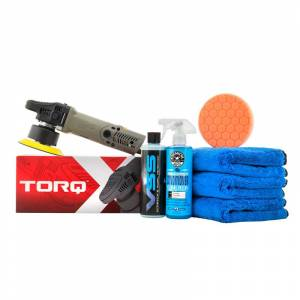TORQx Random Orbital Car Polisher One - Step Scratch And Swirl Remover Kit (7 Items)   Car Scratch Remover   Chemical Guys
