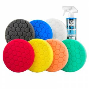 """Chemical Guys Hex-Logic 6.5"""" Best Of The Best Car Buffing Pads Everything Kit (8 Items)   Car Detailing   Chemical Guys"""