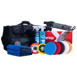 TORQx Complete Detailing Kit With Arsenal Range Car Polisher Bag (14 Items)   Car Detailing   Chemical Guys