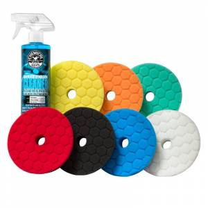 """Chemical Guys Hex-Logic Quantum 5.5"""" Best Of The Best Car Buffing Pads Kit (8 Items)   Car Detailing   Chemical Guys"""