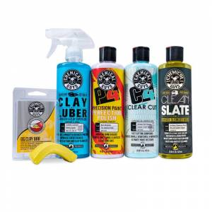 Chemical Guys The Basics To Correction & Perfection - Includes Correction Compound, Paint Polish, CLay Luber Lubricant, Wax Stripping Wash & Clay Bar   Chemical Guy