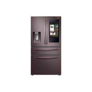 Samsung 28 cu. ft. 4-Door French Door Refrigerator with Touch Screen Family Hub in Tuscan Stainless Steel(RF28R7551DT/AA)