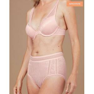 Nudea The Hugger Brief in Invisible Lace - Blush Pink (XXL (UK 18))