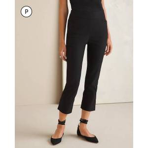 Chico's Women's So Slimming Petite Brigitte Side-Vent Slim Crops, Black, Size 10P-M