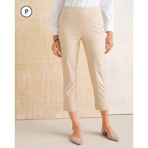 Chico's Women's So Slimming Petite Brigitte Side-Vent Slim Crops, Sand, Size 10P-M