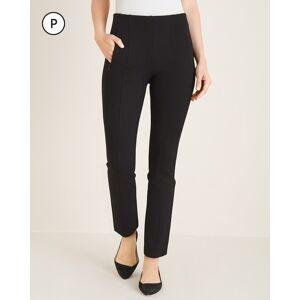 Chico's Women's So Slimming Petite Juliet Seamed Ankle Pants, Black, Size 10P-M