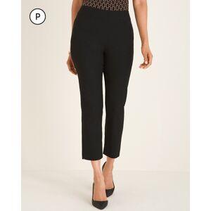 Chico's Women's So Slimming Petite Brigitte Slit-Hem Crops, Black, Size 10P-M