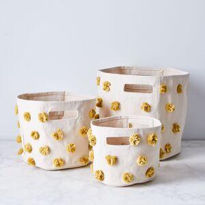 pehr Pom Pom Storage Bins  - Set of 3, Marigold