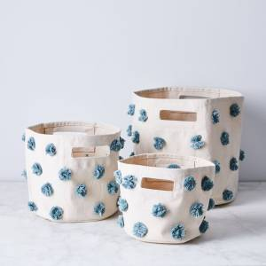 pehr Pom Pom Storage Bins  - Mini, Deep Sea
