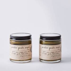 Stone Hollow Farmstead Pickles (Set of 2) - Pickled Garlic Scapes (Set of 2)