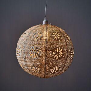 """Allsop """"Allsop Mediterranean Market 18"""""""" Lantern - Lantern & Indoor/Outdoor Cord + Dimmer, Pearl"""""""