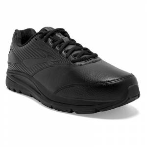 Brooks Addiction Walker 2 (Men's) Black Leather 14 4E